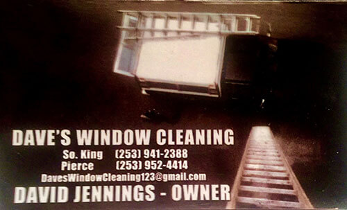 Dave's Window Cleaning's Business Card